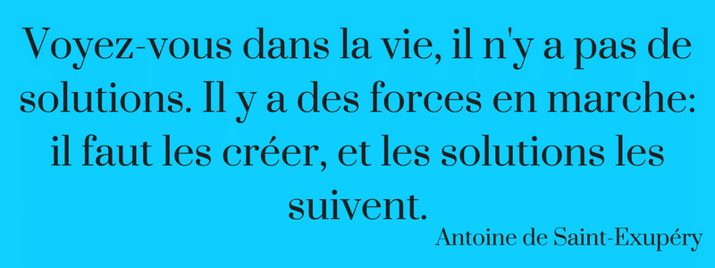 Citation d'Antoine de Saint-Exupéry