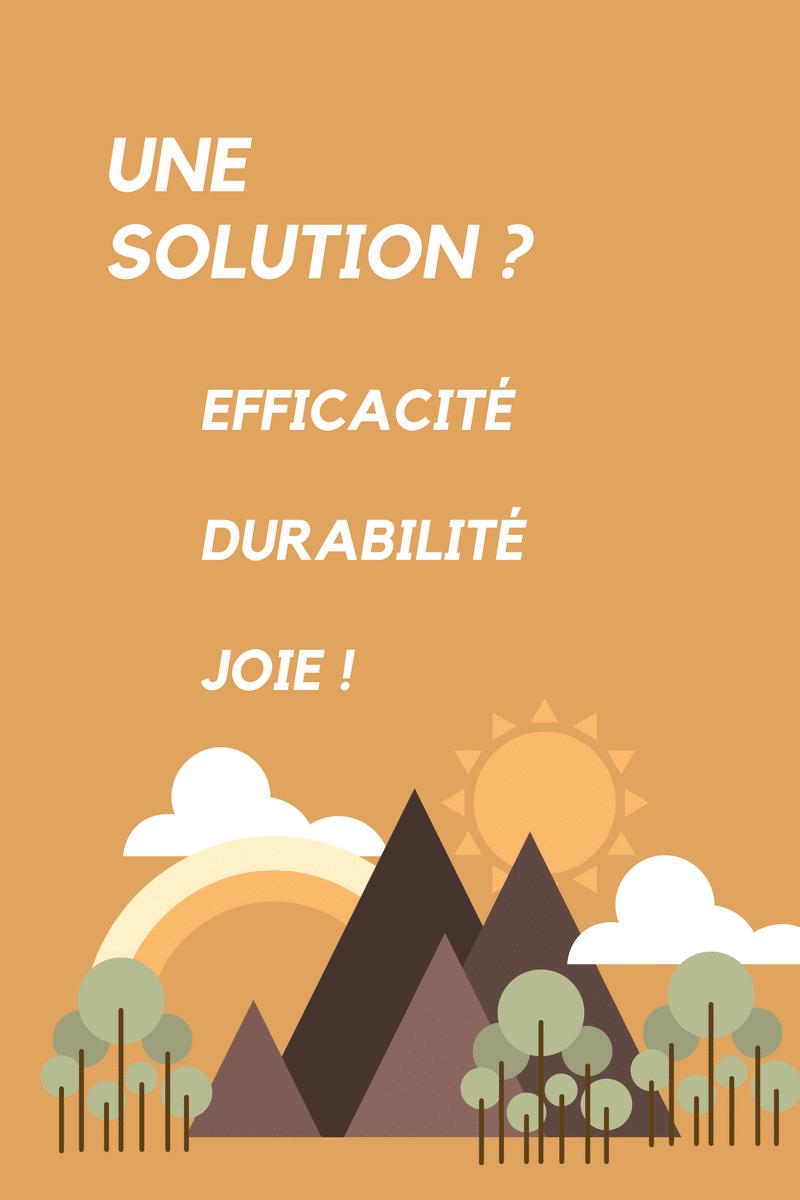 Infographie définition solution en 3 mots